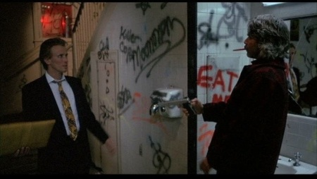 This happened pretty much any time you went into a NYC restroom in the '80s