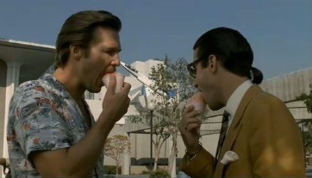 One scene just has these guys eating Sno-Cones.