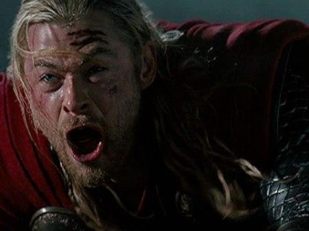 Oh swell. We get to see Thor's O-face.