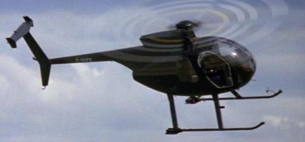 Why is the Hughes 500 always the go-to air superiority fighter in these movies?